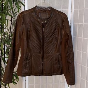 Maurices Jackets & Coats - Maurices Brown Faux Leather Jacket